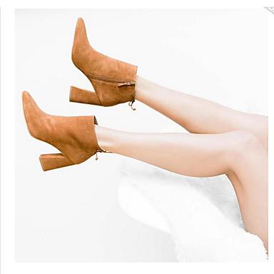 Noir Femme Habillé Pour Hiver Automne Talon Daim Kaki Demi Fermeture Bottine Lacet 05061228 Botte Chaussures Gros arqaOH