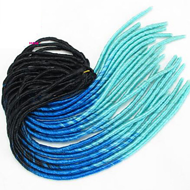 Bleu foncé La Havane dreadlocks Extensions de cheveux 20 inch Kanekalon 20 roots Brin 100g gramme Braids Hair