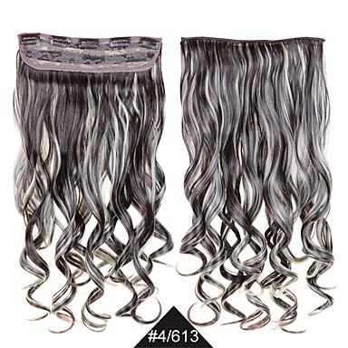 60 סנטימטרים קוספליי סינטטי עמידה בחום שיער # 4/613 שיער סינטטי מתולתלות וגלי מעורב צבע שיער ארוכה נשי נשים סקסיים