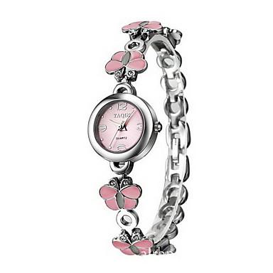 Mulheres Relógio Elegante Bracele Relógio Quartzo Quartzo Japonês / Lega Banda Borboleta Elegantes Prata