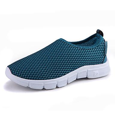 Para Meninas Tênis Conforto Tule Verão Casual Conforto Rasteiro Vermelho Verde Azul Claro Cinza Escuro Azul Real