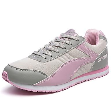 Sko-Tekstil-Flat hæl-Lukket tå / Komfort-Trendy sneakers-Friluft / Fritid / Sport-Blå / Rød