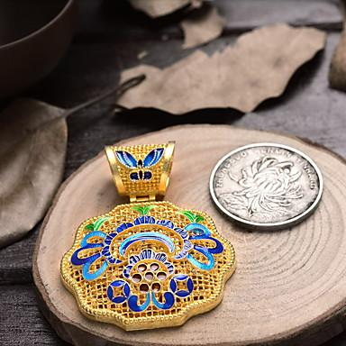 DIYの宝石類のためのエナメルの花の銅のペンダント