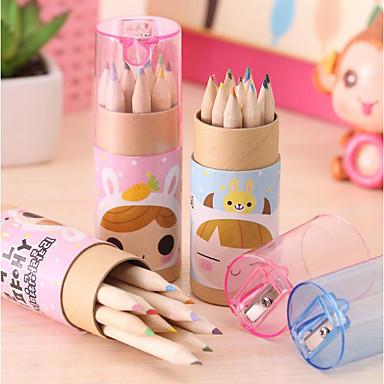 Japão e Coreia do Sul papelaria bonito menina de 12 constelação de lápis de cor pequeno, lápis colorido desenho da pena