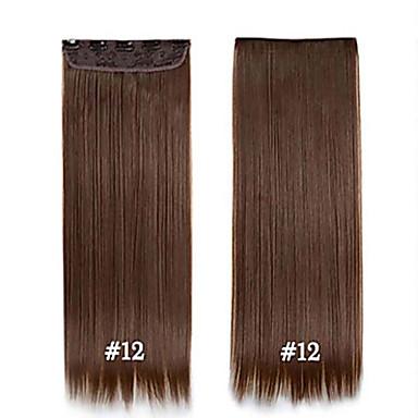 Pedazo de cabello Recto Clásico Pelo sintético La extensión del pelo Con Clip Diario
