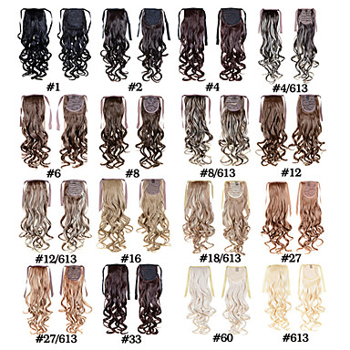 22 pouces Cheveux Synthétiques Extension des cheveux Bouclé Classique Serre tête Type Croisé Quotidien Haute qualité Femme