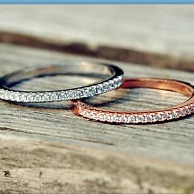 Mulheres Anéis Grossos Luxo Vintage Casual Fashion Prata de Lei Strass Prateado Formato Circular Jóias Diário Casual