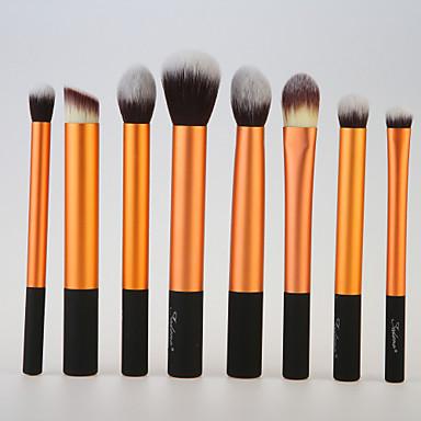 8St Professional Makeup Bürsten Bürsten-Satz- Künstliches Haar Auge / 3 * Lidschattenpinsel / 2 * Lippenpinsel Mittelgroße Pinsel /