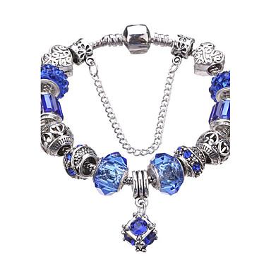 6150827c9f82 Mujer Cristal Con Cuentas Cuentas Pulseras charm Brazalete de Cuentas  Cristal Brillante Plateado Europeo Moda Pulseras y Brazaletes Joyas Azul    Azul Claro ...
