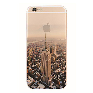 Case For Apple iPhone 5 Case iPhone 6 iPhone 6 Plus iPhone 7 Plus iPhone 7 Translucent Pattern Back Cover City View Soft TPU for iPhone 7
