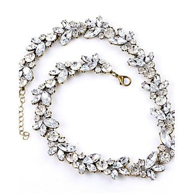 Mujer Cristal Gargantillas / Collares de cadena - Cristal, Brillante Vintage, Europeo, Moda Bonito Blanco Gargantillas Joyas Para Boda, Fiesta, Diario