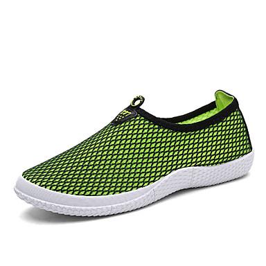 שטוחות גברים של נעליים קז'ואל טול כחול / ירוק / אדום / אפור