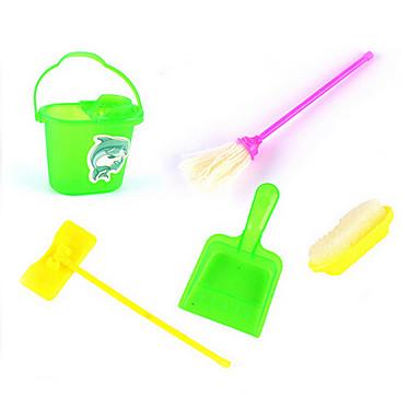 barn simulering rensesett rekvisitter kost rent søppel mopp serien 5 tilbehør