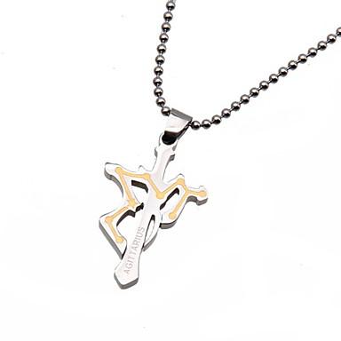Femme Pendentif de collier Pendentif Forme de Croix Acier inoxydable Mode Bijoux Pour Quotidien Décontracté 1pc