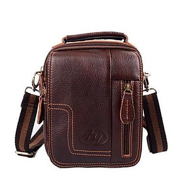 Herren PVC Formell Hüfttasche Braun
