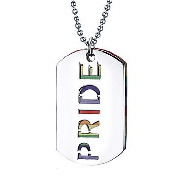 Colliers Tendance Pendentif de collier / Pendentif Bijoux Quotidien / Décontracté A la Mode Acier au titane Argent 1pc Cadeau