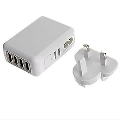 Ladegeräte für Zuhause Telefon USB Ladegerät US Stecker EU Stecker GB Stecker AU Stecker Mehrere Anschlüsse 4 USB Anschlüsse 2.1A 2A 1A