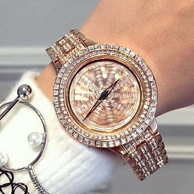 Mulheres Relógio de Moda Quartzo Quartzo Japonês Relógio Casual Aço Inoxidável Banda Brilhante Prata Ouro Rose