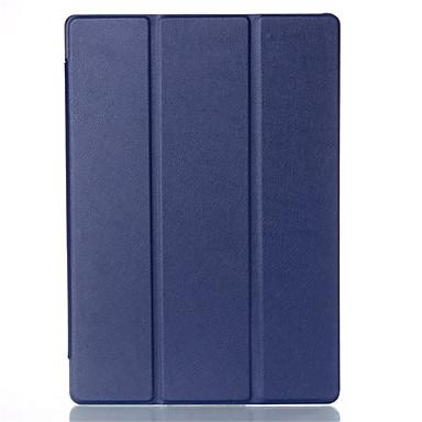 Coque Pour Coque Intégrale Cas de la tablette Couleur unie Dur faux cuir pour