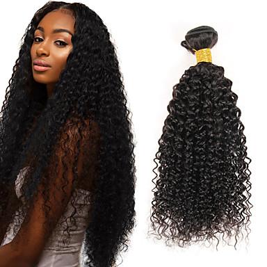 3 paquetes Cabello Hindú Afro / Kinky Curly Cabello Virgen Tejidos Humanos Cabello 8-26 pulgada Cabello humano teje Vertiendo Gratis / Sin enredos / Cabello grueso Extensiones de cabello humano