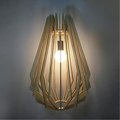 Lampe suspendue ,  Lanterne Autres Fonctionnalité for Style mini Bois/Bambou Salle de séjour Salle à manger 1 Ampoule
