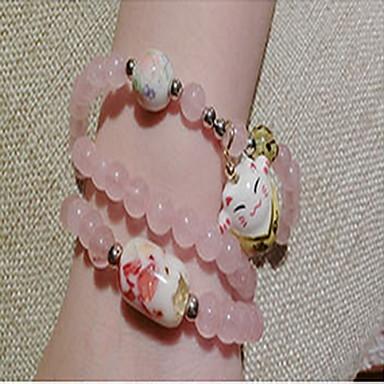 Dame Vedhend Armband Strand Armbånd Mote Blonde Rund Form Smykker Til Daglig Avslappet