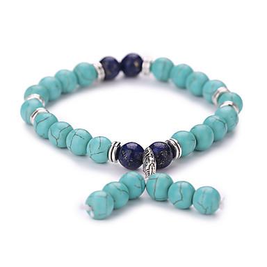 Bracelet Bracelets de rive Alliage Gemme Turquoise Forme Géométrique Adorable Mode Vintage Soirée Quotidien Décontracté Bijoux CadeauVert