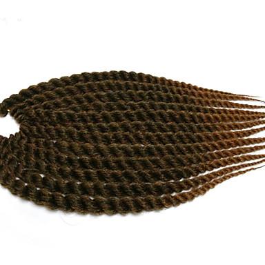 Tranças torção Havana fibra sintética burgundy 1b / # 27 1b / # 30 Extensões de cabelo 12