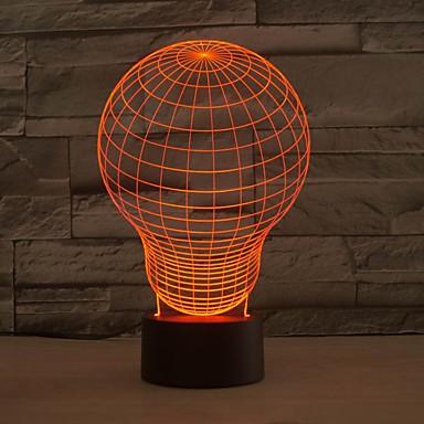 a magia 3 ilusão óptica d iluminação led luminária de mesa que mudam de cor luz da noite