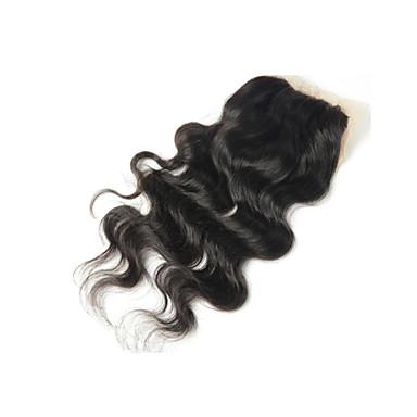 baratos Extensões de Cabelo Natural-Arison Hair Onda de Corpo Tela Suiça Cabelo Humano Parte gratuito Parte Médio Parte 3