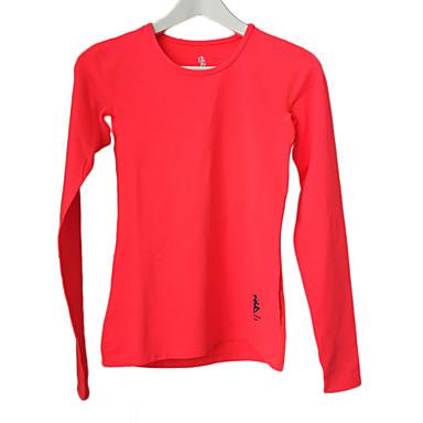 Corrida Camiseta Mulheres Manga Comprida Mantenha Quente / Compressão / Confortável Corrida Esportivo Wear SportsAmarelo / Vermelho /