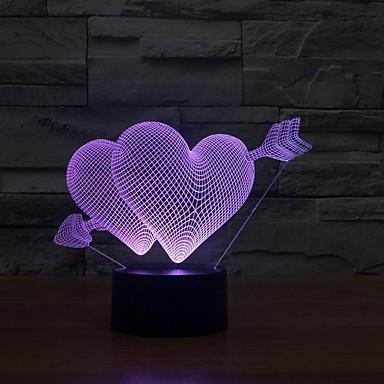 1 Stück 3D Nachtlicht USB Abblendbar 5 V