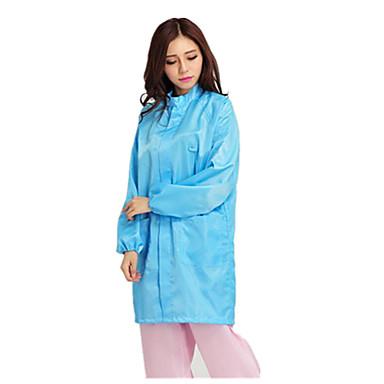 suzhou anti-statische Gitterstreifen Mantelknöpfe blau weißer Staub Schutzkleidung antistatische Kleidung