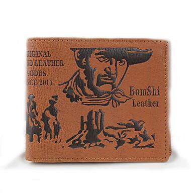 Herren Taschen PU Brieftasche Schleife für Normal Gewerbliche Verwendungen Ganzjährig Braun