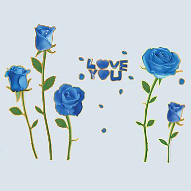 Blomster Wall Stickers Fly vægklistermærker Dekorative Mur Klistermærker / Bryllups klistermærker,PVC Materiale Kan fjernes Hjem Dekor
