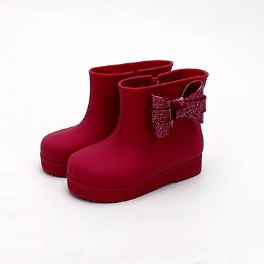 Para Meninos Para Meninas-Botas-Botas de Chuva-Salto Baixo-Preto Roxo Vermelho Bege Azul Marinho-PVC-Ar-Livre Casual