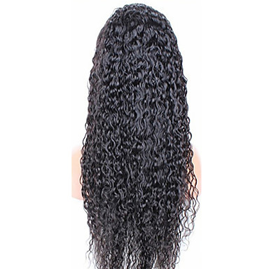 Cheveux humains Full Lace Dentelle frontale Perruque Kinky Curly 120% 130% Densité 100 % Tissée Main Perruque afro-américaine Ligne de