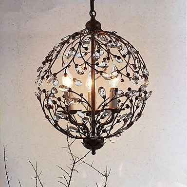 Traditionell-Klassisch Kristall Insel-Licht Raumbeleuchtung Für Wohnzimmer Spielraum 110-120V 220-240V Inklusive Glühbirne