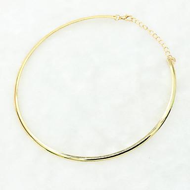 povoljno Modne ogrlice-Žene Choker oglice Pozlaćene dame Jednostavan Vintage Europska Glina Pozlaćeni Legura Zlato Pink Ogrlice Jewelry Za Vjenčanje Party Dnevno Kauzalni