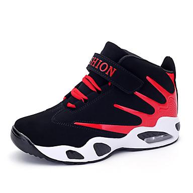 Feminino-Tênis-Conforto Botas Cano Curto-Rasteiro-Preto Azul Verde Vermelho-Microfibra-Ar-Livre Casual Para Esporte