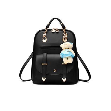 여성 가방 사계절 PU 백팩 주름장식 용 이벤트/파티 쇼핑 캐쥬얼 정장 와인 밝은 블루 라이트 그레이 네이비 블루 라이트 블루