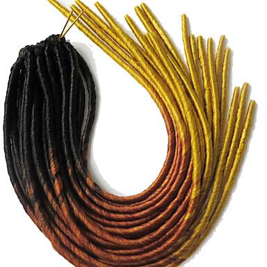dreadlocks La Havane Faux Dreads Crochet faux dreads Dreadlock Extensions Kanekalon Jaune Extensions de cheveux 51cm Cheveux Tressée