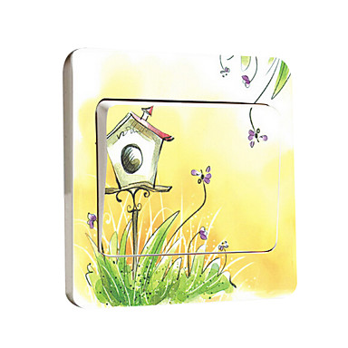 מדבקות קיר דקורטיביות / מדבקות למתג האור / מדבקות לשירותים - מדבקות קיר מטוס Fantasy סלון / חדר שינה / מקלחת
