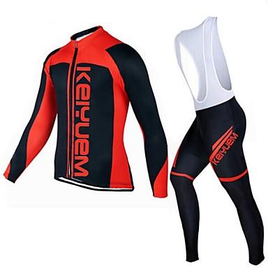 KEIYUEM Manga Comprida Camisa com Calça Bretelle Unissexo Moto Camisa/Roupas Para Esporte Meia-calça Conjuntos de Roupas/TernosRespirável