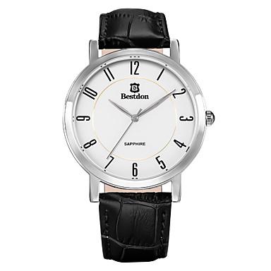 Masculino Relógio de Moda Quartz / Quartzo Japonês Calendário / Relógio Casual Couro Banda Preta / Marrom marca