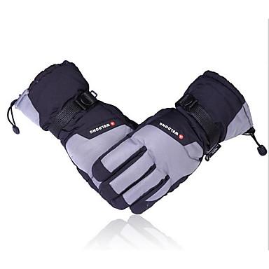 Ski-Handschuhe im Winter mit warmen verdickte wasserdicht Zotten Baumwollhandschuhe für Elektrofahrzeug und Motorrad-Handschuhe