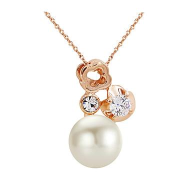Modische Halsketten Ketten Schmuck Party / Alltag / Normal Modisch Aleación / Künstliche Perle / Zirkon Goldfarben 1 Stück Geschenk