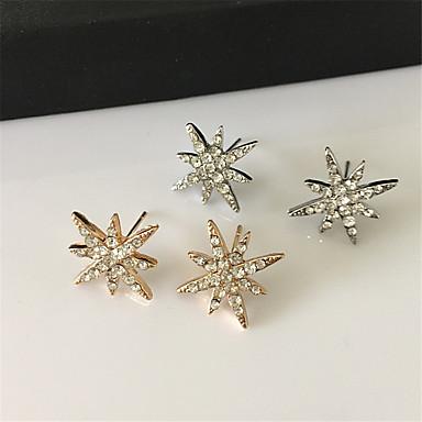 Boucles d'oreille goujon Strass Alliage Mode Noël Forme de Fleur Argent Doré Bijoux Soirée Quotidien Décontracté 1 paire