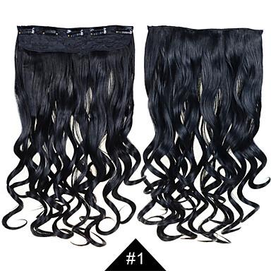 קליפ 1set תוספות שיער 24inch 60 ס