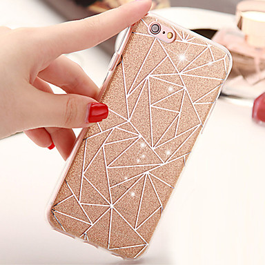 Capinha Para Apple iPhone X iPhone 8 iPhone 6 iPhone 6 Plus Other Capa traseira Glitter Brilhante Macia TPU para iPhone X iPhone 8 Plus